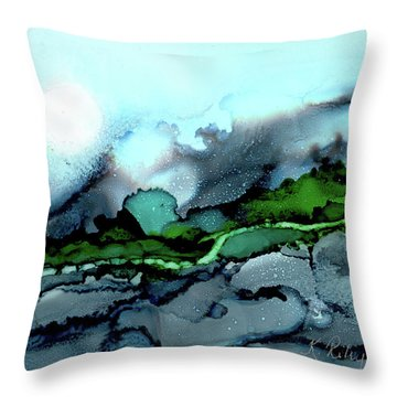 Throw Pillow featuring the painting Moondance Iv by Kathryn Riley Parker
