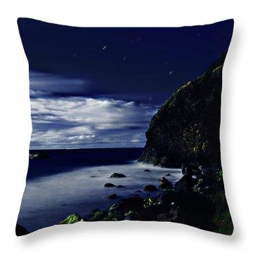 Moonlight At Argyle Throw Pillow