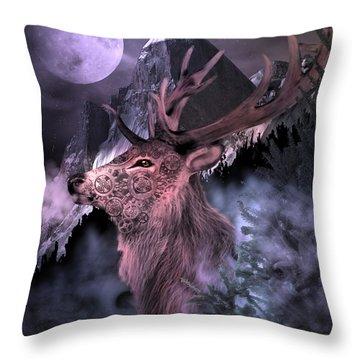 Moonlight Buck Throw Pillow