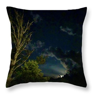 Moonlight In The Trees Throw Pillow