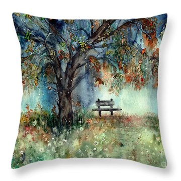 Moonlight Shadows Throw Pillow