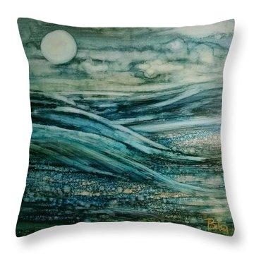 Moonlit Storm Throw Pillow