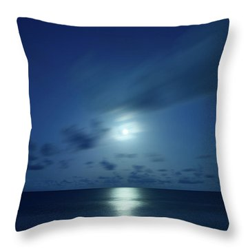 Moonrise Over The Sea Throw Pillow