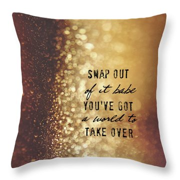 Moonstruck Quote Throw Pillow