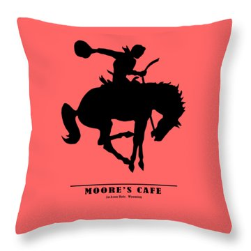 Moores Cafe Wyoming 1946 Throw Pillow