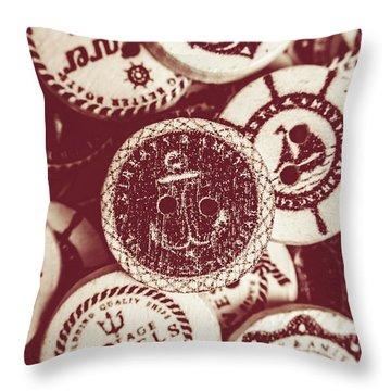 Mooring In Maroon  Throw Pillow