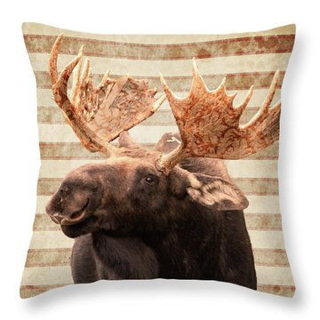 Moosely Throw Pillow