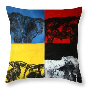 Mooving Out Of Our Land Throw Pillow