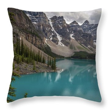 Throw Pillow featuring the photograph Moraine Lake by Paul Schultz
