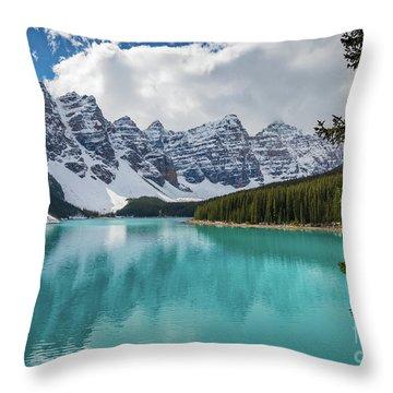 Moraine Lake Range Throw Pillow