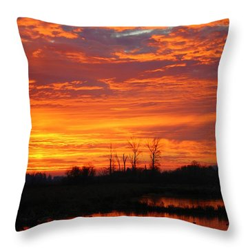 More Sunrise Reflections Throw Pillow