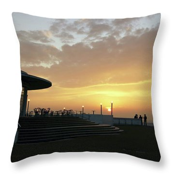 Morecambe. Evening On The Bay Throw Pillow