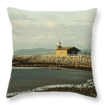 Morecambe. The Stone Jetty. Throw Pillow