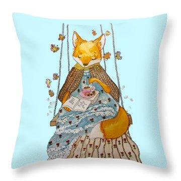 Morgan's Fox Throw Pillow