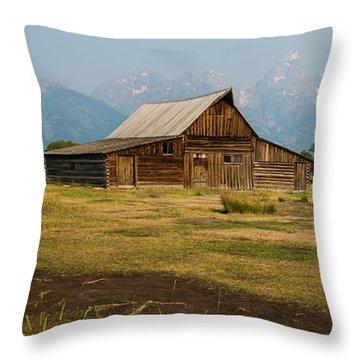 Mormon Barn Throw Pillow