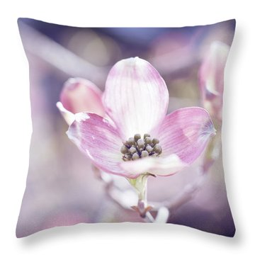 Throw Pillow featuring the photograph Morning Dogwood by Michelle Wermuth