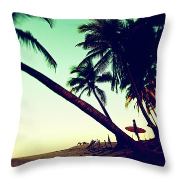 Throw Pillow featuring the photograph Morning Gaze by Nik West