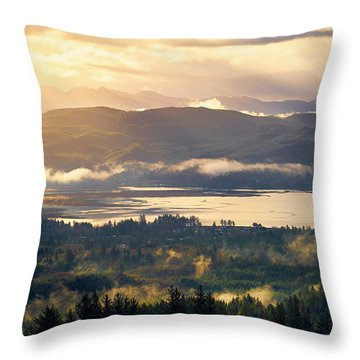 Throw Pillow featuring the photograph Morning Glory by Whitney Goodey