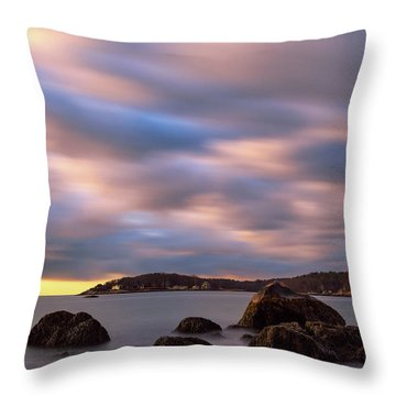 Throw Pillow featuring the photograph Morning Glow, Stage Fort Park. Gloucester Ma. by Michael Hubley