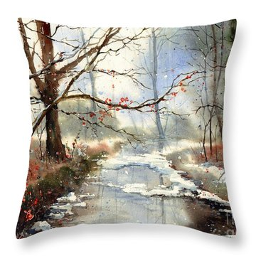 Morning Haze Throw Pillow