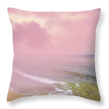 Morning Hour By The Seashore In Dreamland Throw Pillow