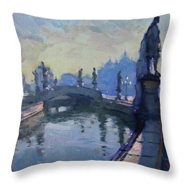 Morning In Padua Italy Throw Pillow