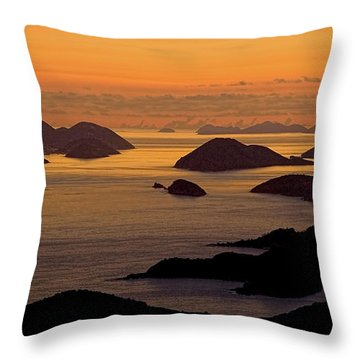 Morning Islands Throw Pillow