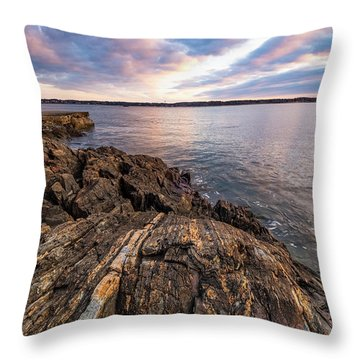 Morning Light Over The Piscataqua River. Throw Pillow