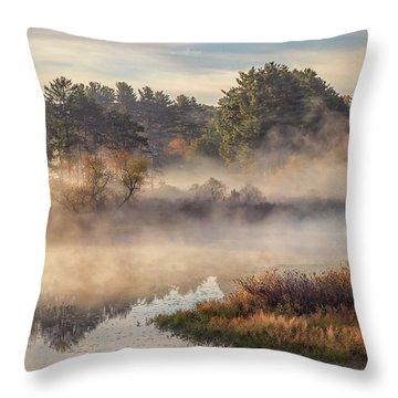 Morning Mist On The Sudbury River Throw Pillow