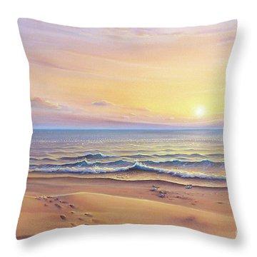 Morning Sea Breeze Throw Pillow