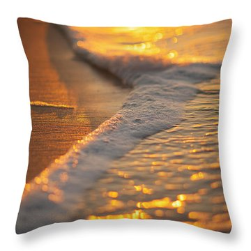 Morning Shoreline Throw Pillow