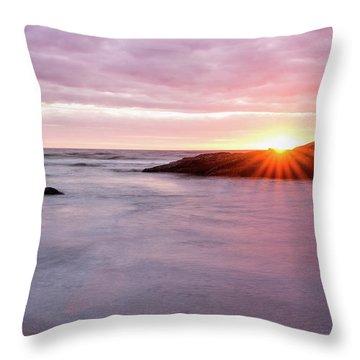 Morning Sun Good Harbor Throw Pillow