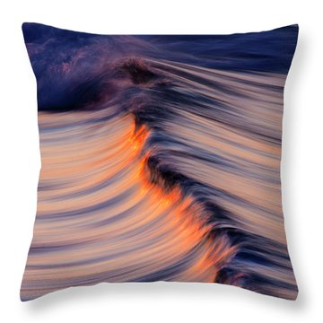 Morning Wave Throw Pillow