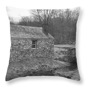 Morris Canal Lock House - Waterloo Village Throw Pillow
