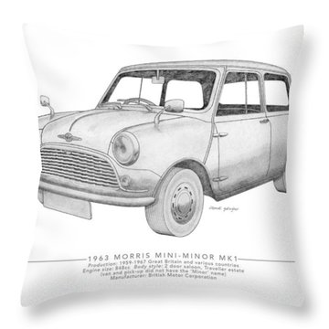 Morris Mini-minor Saloon Throw Pillow