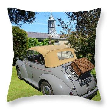 Morris Minor Grey Convertible Throw Pillow