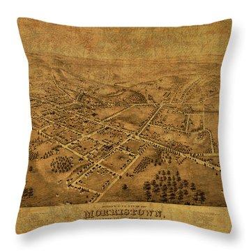 Morristown New Jersey Vintage City Street Map 1876 Throw Pillow