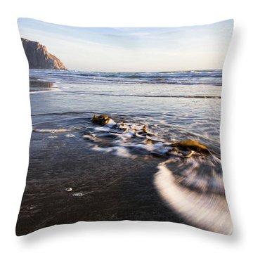 Morro Rock Ebb Tide Throw Pillow