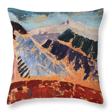 Mosaic Canigou Throw Pillow