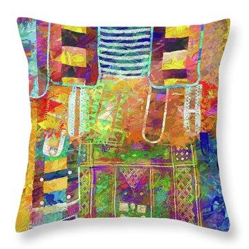 Mosaic Garden Throw Pillow
