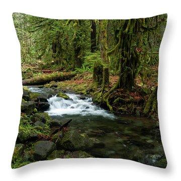 Mossy Cascade Throw Pillow