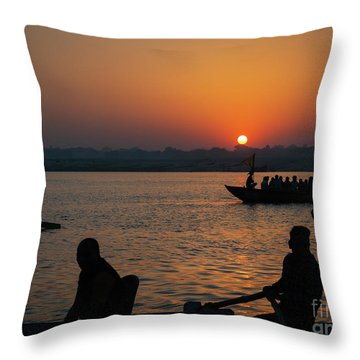 Mother Ganges Throw Pillow