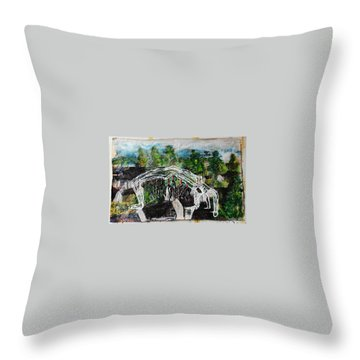 Mother Money Begins To Collapse Throw Pillow