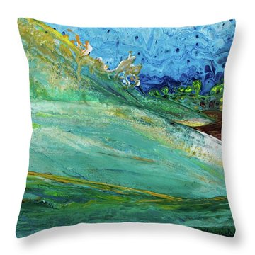 Mother Nature - Landscape View Throw Pillow