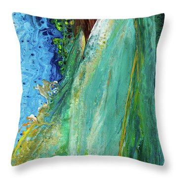 Mother Nature - Portrait View Throw Pillow