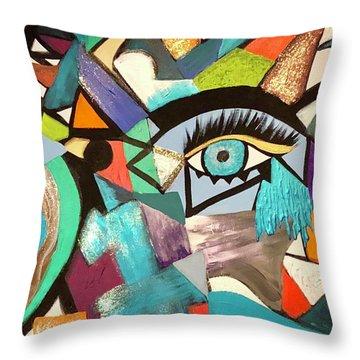 Motley Eye 4 Throw Pillow