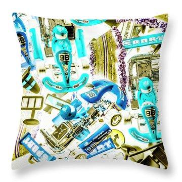 Motorised Bedlam Throw Pillow