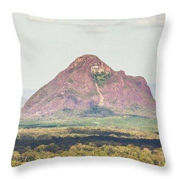 Mount Beerwah Throw Pillow