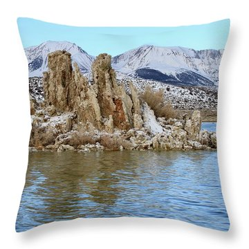 Mount Dana At Dawn  Mono Lake Throw Pillow