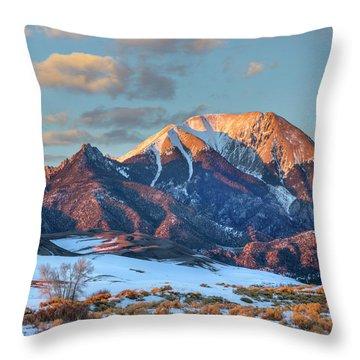 Mount Herard, Great Sand Dunes National Throw Pillow